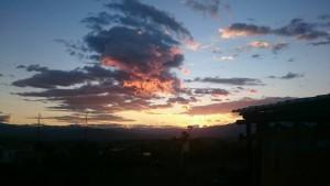 Puesta de sol en Villa de Leyva