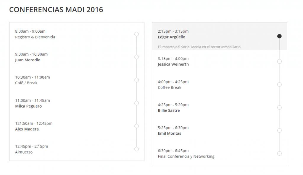 agenda madi 2016