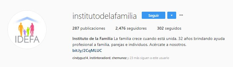 instituto de la familia instagram