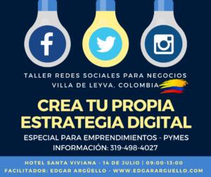 Taller Redes Sociales Villa de Leyva Colombia