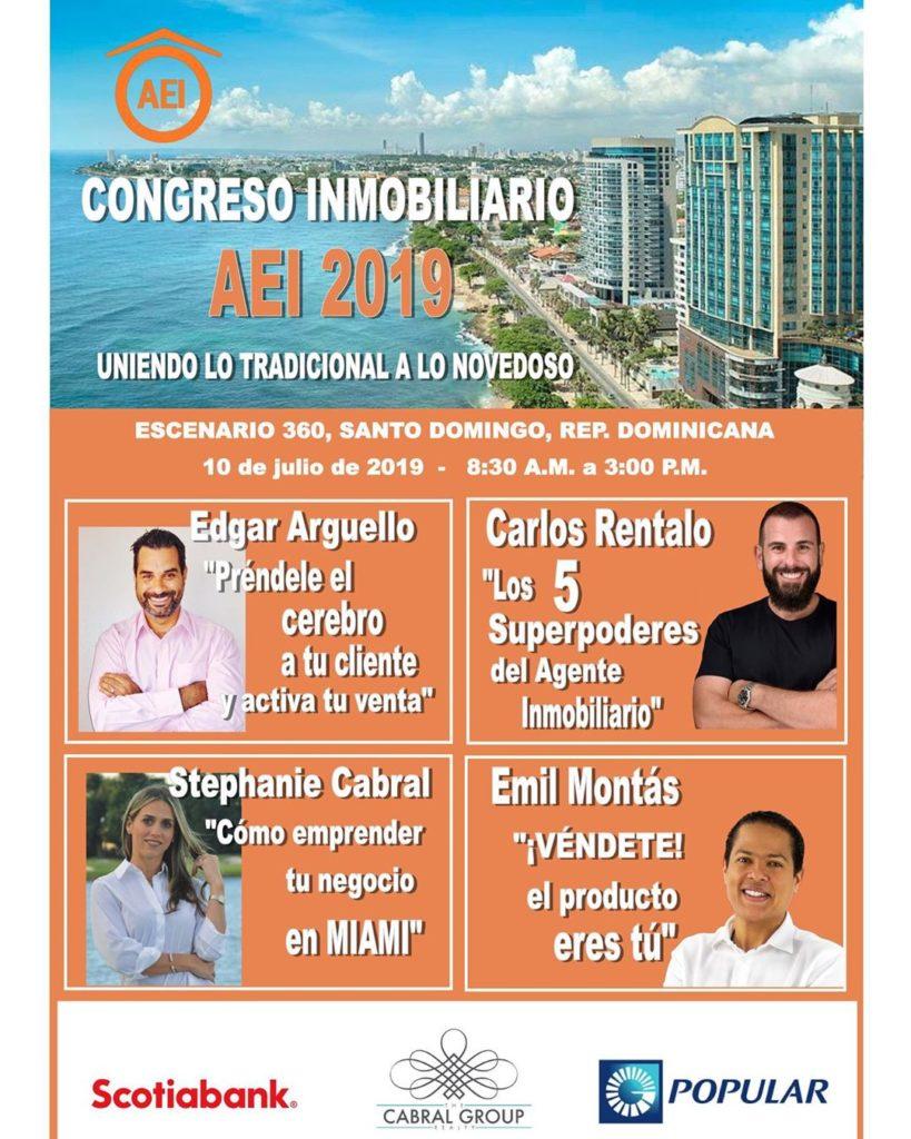 congreso-inmobiliario-aei-2019-carlos-rentalo-edgar-arguello-emil-montas-stephanie-cabral-santo-domingo